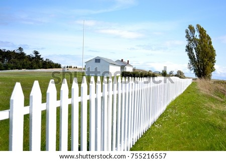 White Picket Fence American Dream Concept Stock Photo Edit Now