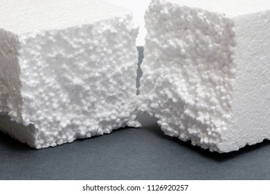 White piece of styrofoam