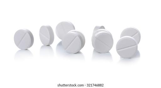White pill on a white background