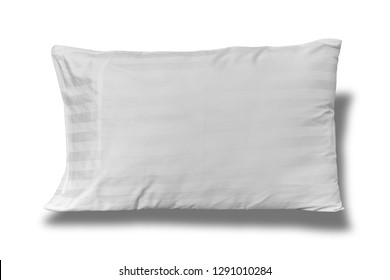 white pillow ,isolated on white background with clipping path.