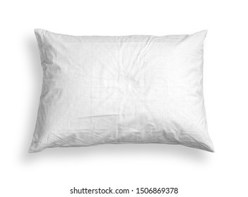 white pillow isolated on white background with clipping path