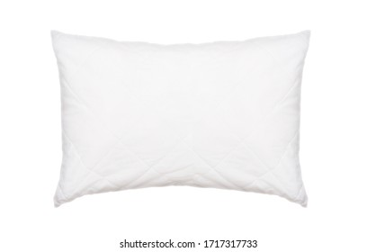 White pillow isolated on white background, used pillow