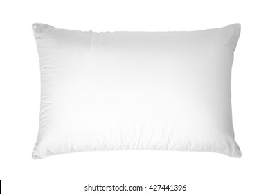 white pillow, Isolated on white background.