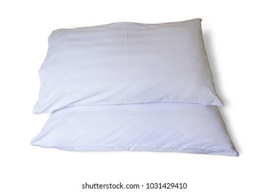 White Pillows isolated on white on white background. This has clipping path.