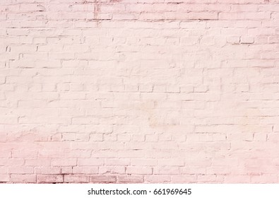 White and pink brick wall background