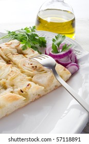 white pizza with onion