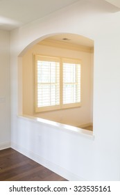 White Plantation Shutters in a new home