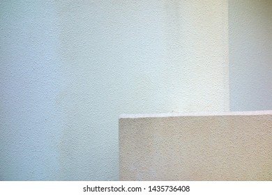White plaster outer wall background