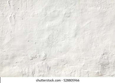 White Plastered Brick Wall Texture. Whitewash Brick Wall Seamless Surface. Abstract White Wash Background. White Brickwall Wallpaper. White Painted Retro Wall Built Structure.