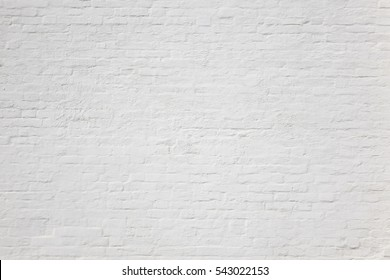White Plastered Brick Wall Texture. Whitewash Brickwork Seamless Surface. Abstract White Wash Background. White Stonewall Wallpaper. Whiten Retro Stonewall Built Structure.