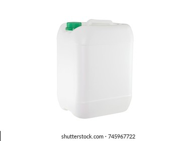 White plastic container isolated on white background (with clipping work path)
