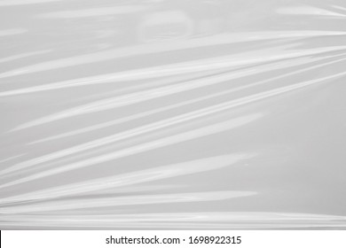 White plastic film wrap texture background