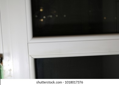 White plastic five-chamber windows with windows and blinds