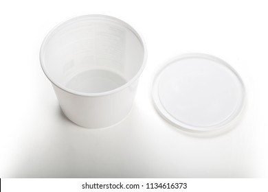 White Plastic Tub Bucket Container close up