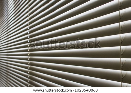 plastic window blinds rainbow coloured white plastic window blinds are closed to protect the sunlight and heat from sun at plastic window blinds closed protect stock photo edit now