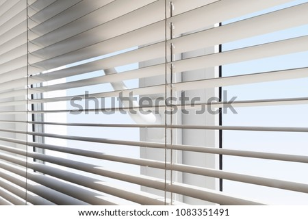 plastic window blinds living room white plastic window with blinds closeup against blue sky plastic window blinds closeup against stock photo edit now