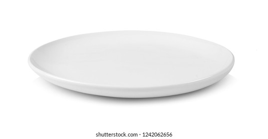 white plate isolated on white background
