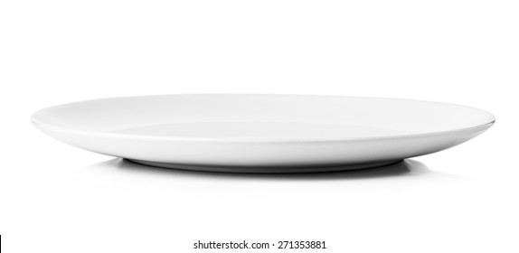 white plate isolated on a white background.