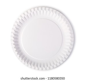 white plate on a white background
