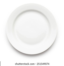 White Plate On Background