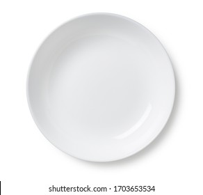 White plate placed on a white background - Shutterstock ID 1703653534