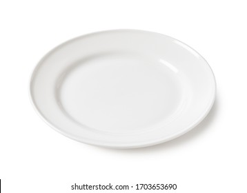 White plate placed on a white background
