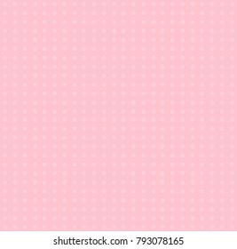 White polka dots pattern on love pink pastel background  illustration design.