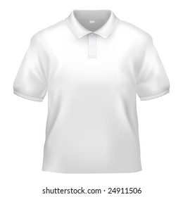 White polo shirt design template (isolated on white, clipping path)