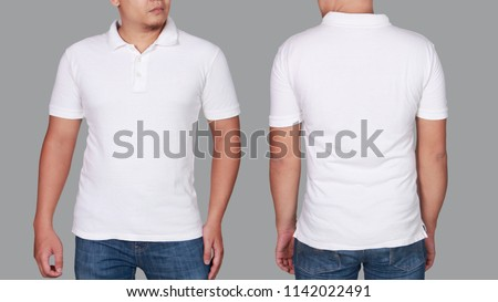 26805a35a White Polo Tshirt Mock Up Front Stock Photo (Edit Now) 1142022491 ...
