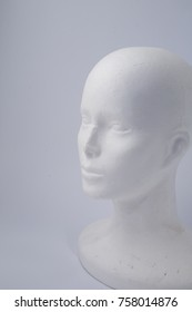 white polystyrene head