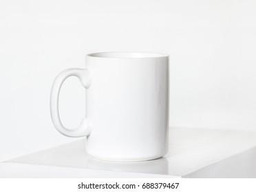 White porcelain mug mock up