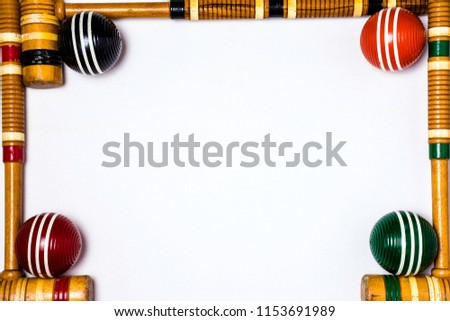 White Poster Board Framed Wooden Croquet Stock Photo (Edit Now ...