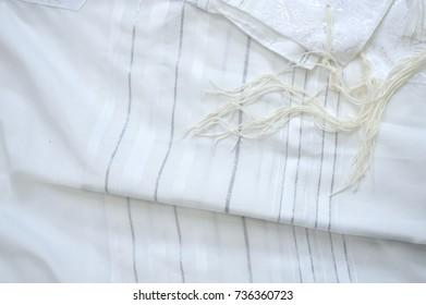 White prayer talit