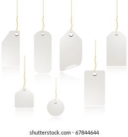 White Price tag set