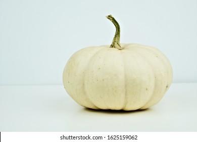 White Pumpkin, Pumpkin Lumina isolated on a white background