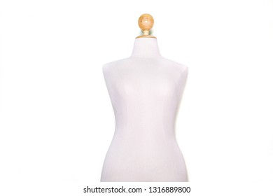 White puppet or Female figure For clothes. Made of fabric.  concept:Fashion Shop,Clothes shop,stylish.Model,body