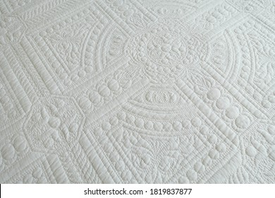 White Quilted Cover Design  Background