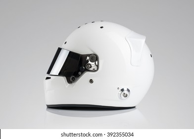 White Racing Helmet
