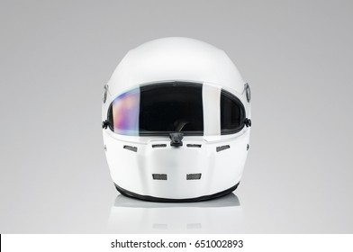 White racing helmet template