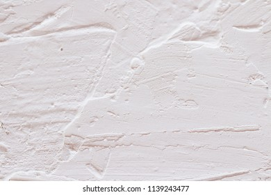 White raw plaster.