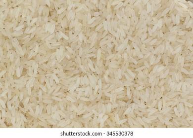 White raw rice background