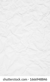 White recycle paper crumpled background texture