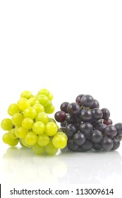 White and red grape