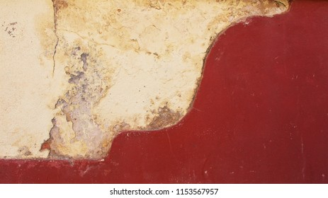 white and red messy wall background texture