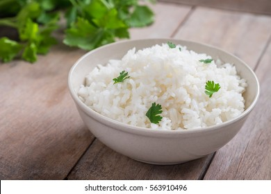 White rice in bowl