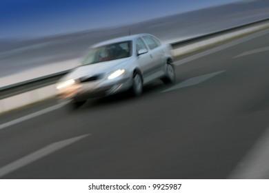 White ridden car