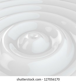 White rippled background, 3d computer graphic