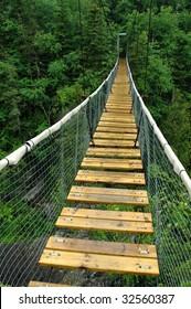 White River Suspension Bridge, Pukaskwa National Park, Marathon, Ontario.
