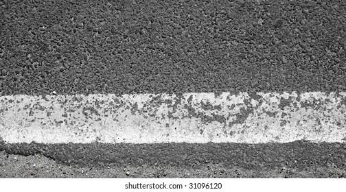 white road line
