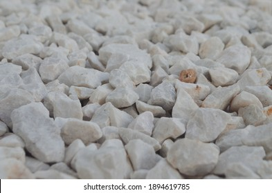 White rocks on the ground